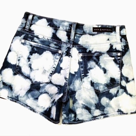 Rock & Republic Pants - Acid washed high waisted denim shorts bleached out